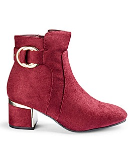Flexi Sole Block Heel Ankle Boots E Fit