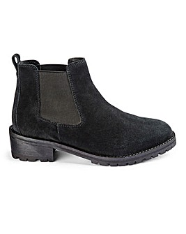 Suede Pull On Chelsea Ankle Boots Wide E Fit