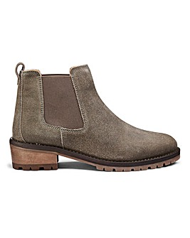 Suede Pull On Chelsea Ankle Boots Extra Wide EEE Fit