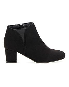 Block Heel Trouser Boots E Fit
