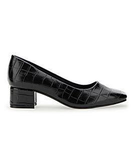 Flexi Sole Block Heel Shoes EEEEE Fit