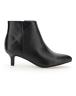 Flexi Sole Kitten Heel Ankle Boots Wide E Fit