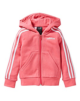 adidas Younger Girls Three Stripe Hoodie