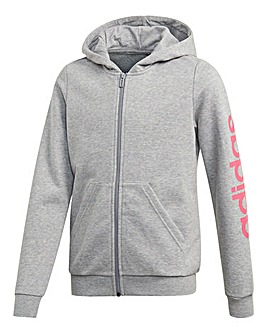 adidas Younger Girls Linear Zip Hoodie