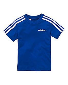 Adidas Younger Boys Three Stripe Tee