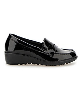 Cushion Walk Low Wedge Loafers Extra Wide EEE Fit