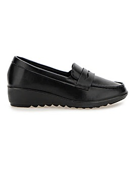 Cushion Walk Low Wedge Loafers EEE Fit