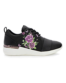 Floral Print Leisure Shoes E Fit