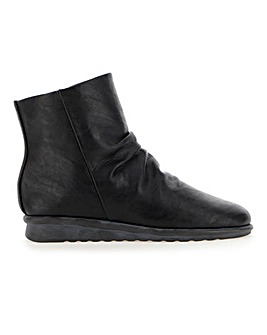 Cushion Walk Ruched Ankle Boots E Fit
