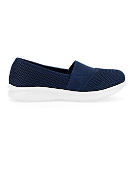 Cushion Walk Lightweight Elastic Detail Leisure Shoes Extra Wide EEE Fit