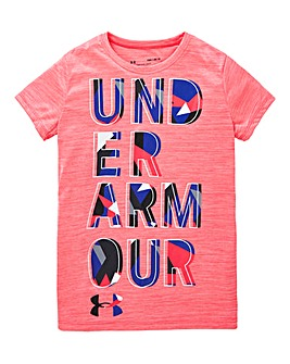 Under Armour Girls Hybrid 2.0 Logo Tee