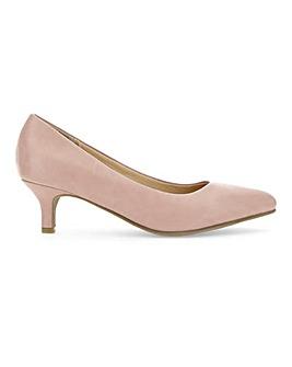 Flexi Sole Kitten Heel Shoes D Fit