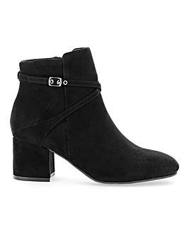Flexi Sole Block Heel Ankle Boot EEE Fit