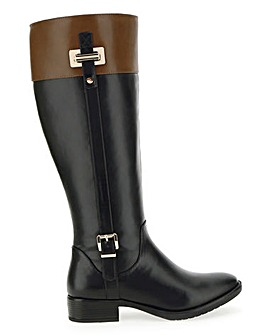High Leg Riding Boots Wide E Fit Super Curvy Calf