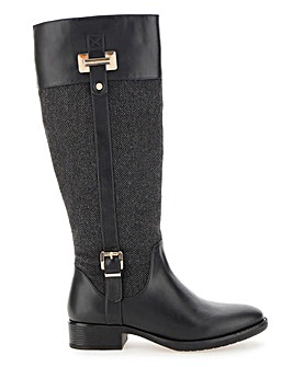 High Leg Riding Boots Wide E Fit Standard Calf