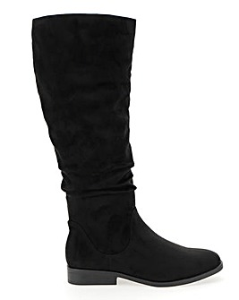 Microsuede Boots E Fit Standard Calf