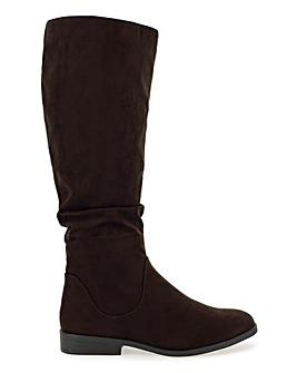 Microsuede High Leg Boots Wide E Fit Standard Calf