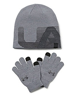 Under Armour Boys Beanie and Glove