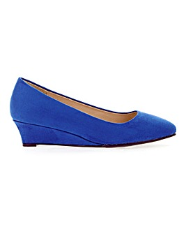 Low Wedge Court Shoes Wide E Fit