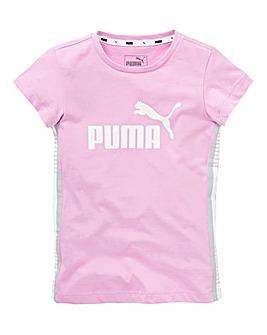 Puma Girls Elevated Essential Tape Tee
