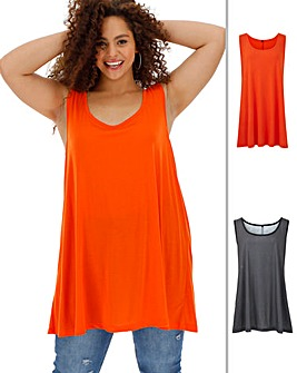 Pack 2 Sleeveless Swing Tunics