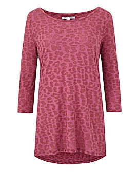 Dusty Pink Burnout 3/4 Sleeve Top