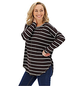 Black/ Grey Oversized Stripe Tunic