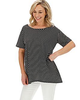 Wide Neck Boxy T Shirt