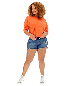 Orange Crop Boxy T Shirt