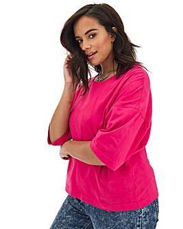 Simply Be Crop Boxy T Shirt