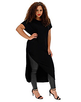 Black Severe Asymmetric Tunic