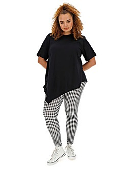Simply Be Black Asymmetric T-Shirt