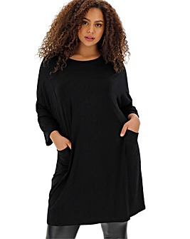 Simply Be Black Oversized Tunic