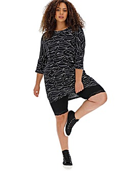 Simply Be Lip Print Oversized Tunic