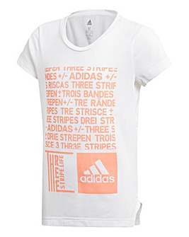 Adidas Younger Girls Graphic Tee
