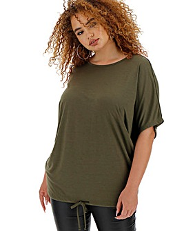 Simply Be Batwing Drawstring Hem Top