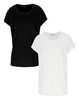 2 Pack Curved Hem T-Shirts