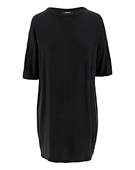 Black Cut Out Shoulder Tunic