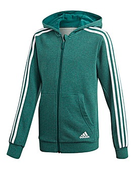 Adidas Younger Boys 3S Full Zip Hoodie