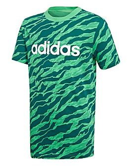 Adidas Younger Boys Linear Printed Tee