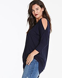 Navy Cold Shoulder Tunic