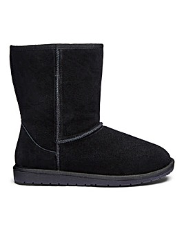 Suede Pull On Ankle Boots Wide E Fit