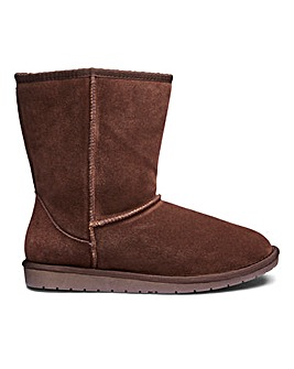 Suede Pull On Ankle Boots Extra Wide EEE Fit