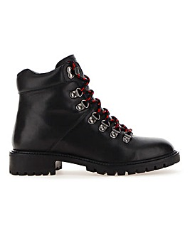Leather Hiker Style Boots Extra Wide EEE Fit