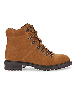 Leather Hiker Style Boots Wide E Fit