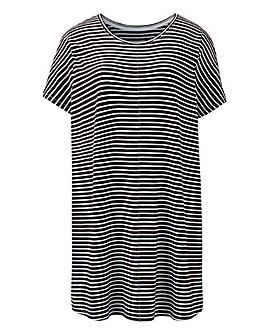 Black/White Oversized Stripe Top