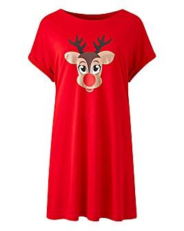 Reindeer Christmas Boyfriend T-Shirt