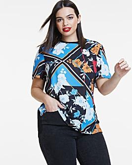 Woven Front T Shirt