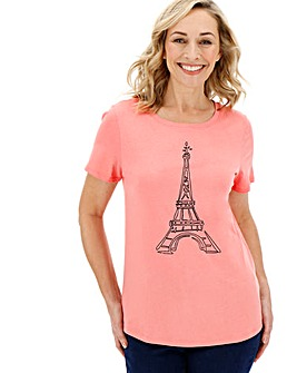 Eiffel Tower Slogan Tee