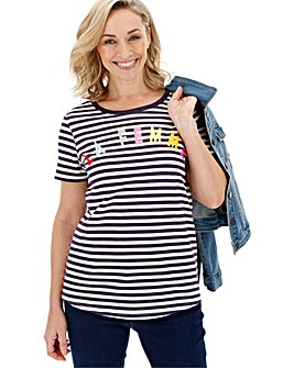 Stripe Slogan Tee